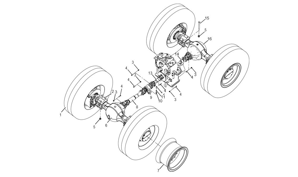 AXLE SYSTEM (30804900011)