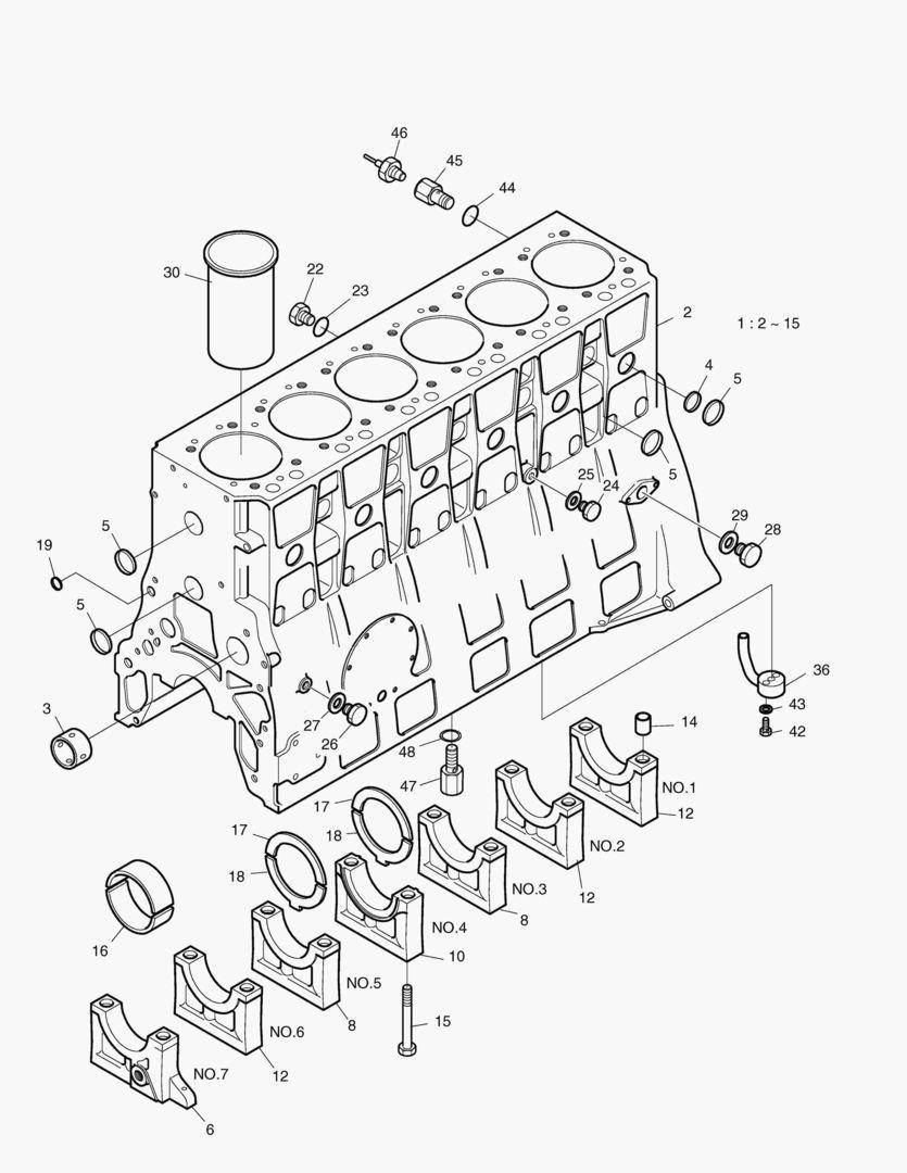 Блок цилиндров dx225lc-5