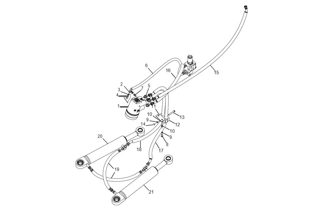 PIPELINE ASSEMBLY OF STEERING GEAR AND CYLINDER (30806000244)
