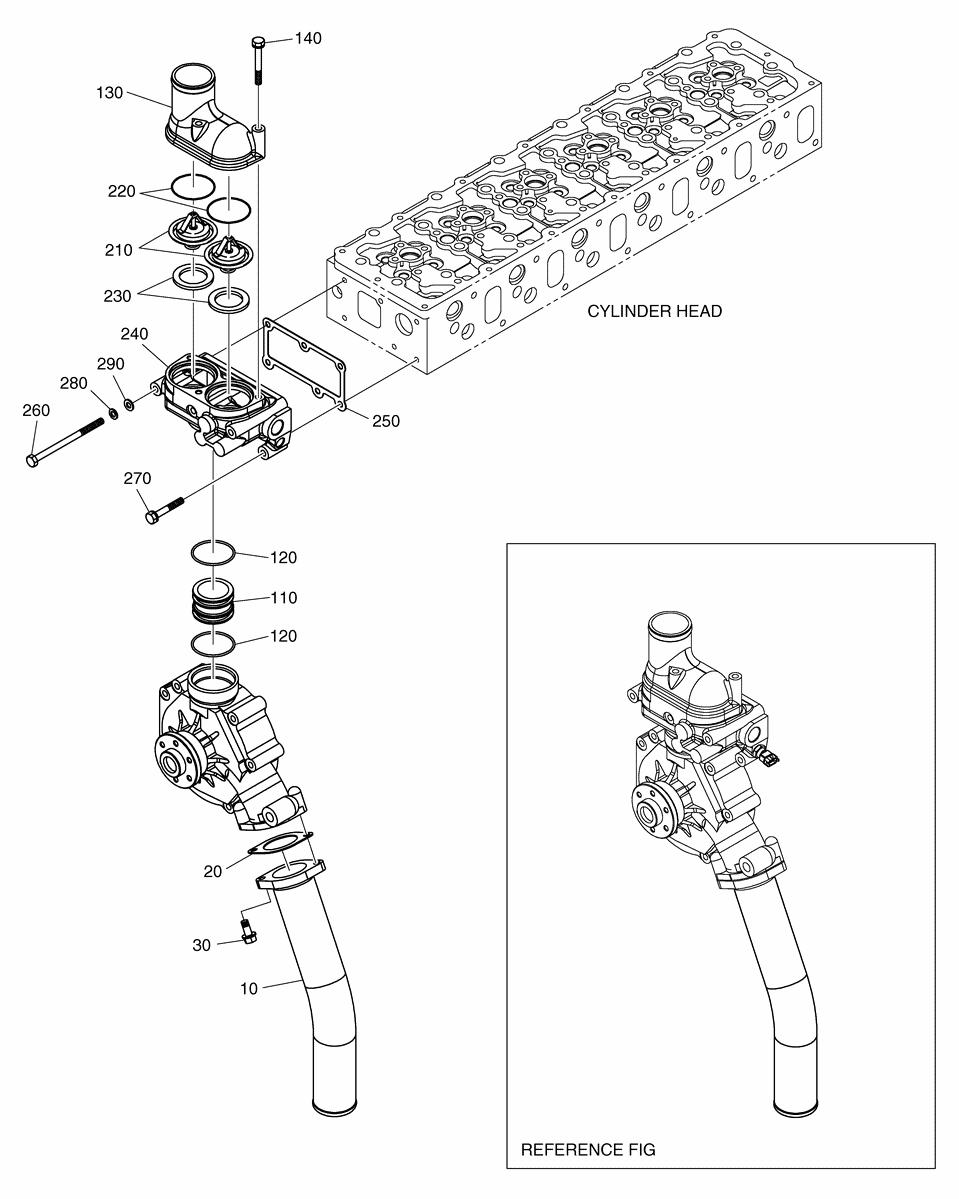 Коллектор охлаждающей жидкости dx225lc-5
