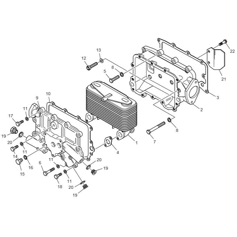 Маслоохладитель dx225lc-5