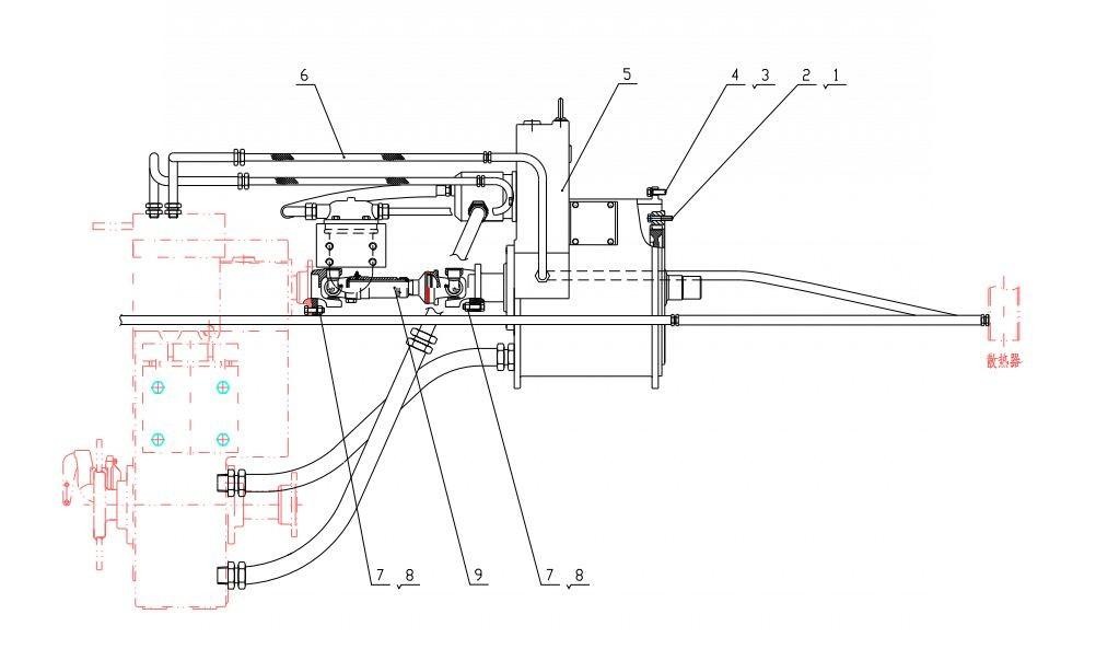 Погрузчики Lonking CDM833 Система гидротрансформатора