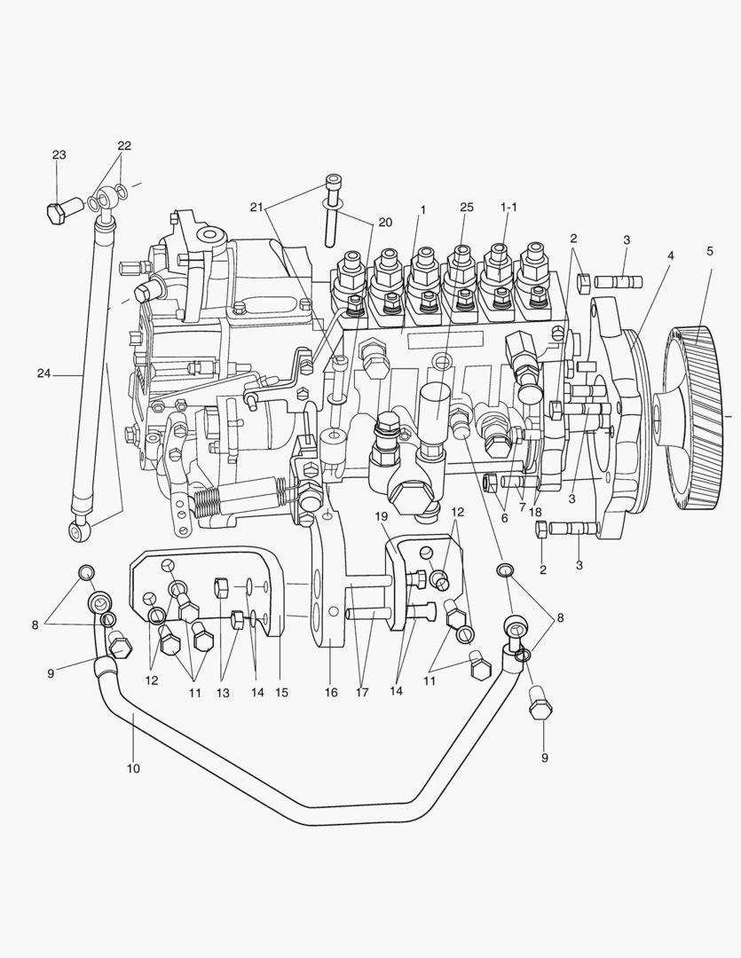 Топливный насос dx225lc-5