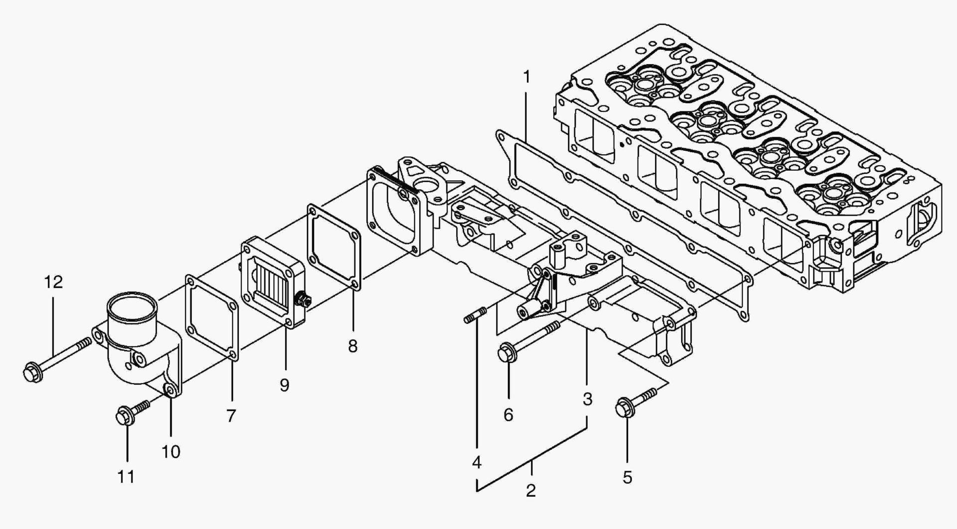 Впускной коллектор dx225lc-5