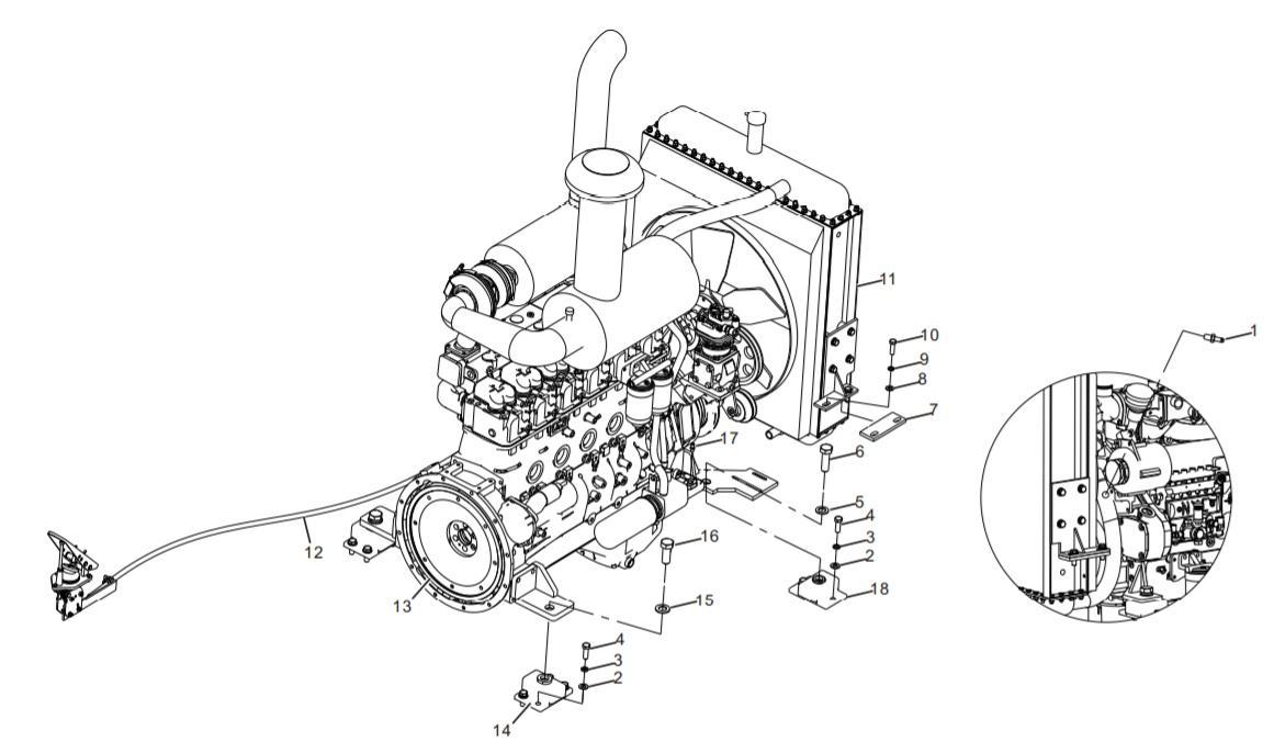 DIESEL ENGINE SYSTEM (30801900161)